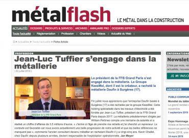 Jean-Luc Tuffier a racheté la métallerie Daufin à Surgères.